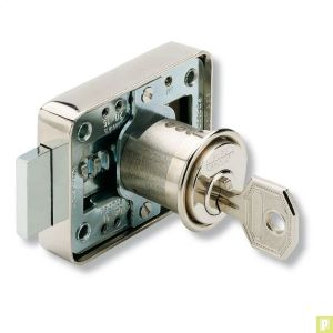 Serrure en aplique cylindre pour meuble ou placard - Serrure de meuble ...